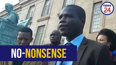 WATCH: Ronald Lamola takes no-nonsense approach to guns in court
