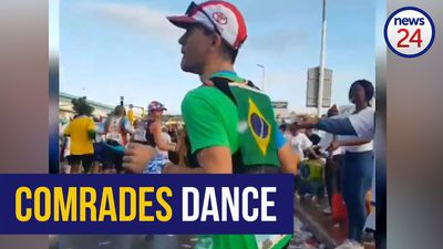 WATCH: 'I just like dancing' – Brazilian Comrades runner shows off his moves