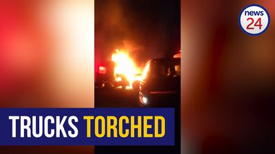 WATCH: Three trucks and office container torched in KZN