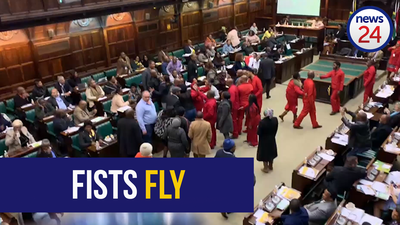 WATCH: ANC, EFF MPs involved in violent confrontation in parliament