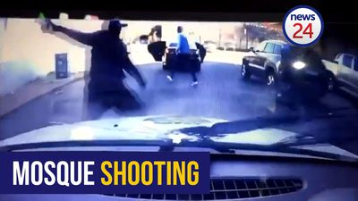 WATCH: Shootout outside Newtown mosque caught on security dashcam