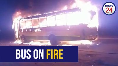 WATCH: Golden Arrow bus torched in protest related action in Cape Town