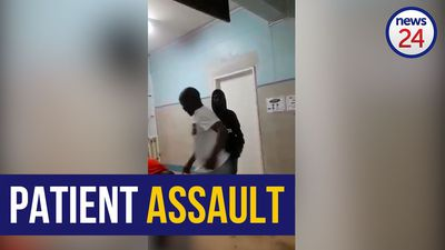 WATCH: Man beaten up outside JHB hospital's casualty ward