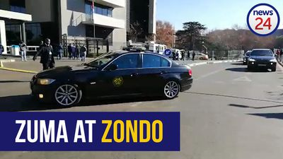 WATCH: Former President Jacob Zuma arrives at Zondo commission