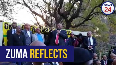 "WATCH: ""I will remain a member of the ANC, forever."" Zuma to supporters"