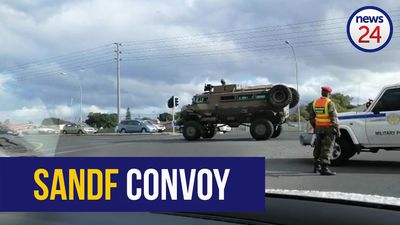 WATCH: 12 SANDF vehicles head out for round 2
