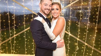 Locnville's Andrew Chaplin and Alyssa Buettgen tie the knot