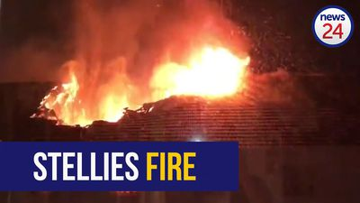 Stellenbosch University res fire: The moment the roof collapsed