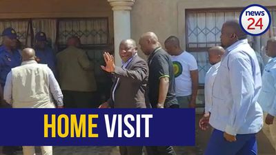 WATCH | Cyril Ramaphosa visits home of slain taxi driver Jabu Baloyi