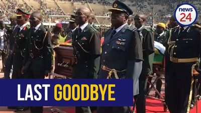 WATCH | Last goodbyes before Mugabe's cortège leaves stadium