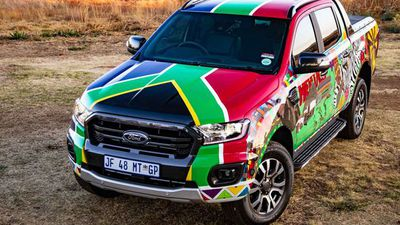 Ford paints a Ranger to celebrate the South African heritage