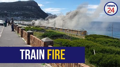WATCH | Train on fire at Glencairn station