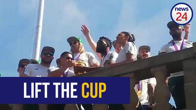 WATCH | Springboks lift Webb Ellis Cup at Union Buildings as trophy tour kicks off