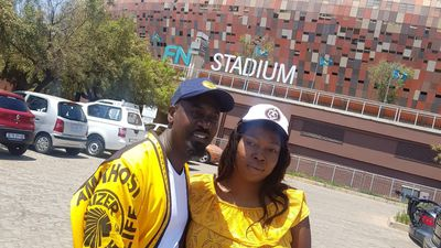 #KFCWedding couple goes to the Soweto Derby
