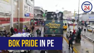WATCH | Trophy tour: Rain doesn't keep PE at bay