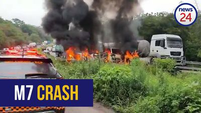 WATCH | Fiery crash on Durban's M7 kills one, injures scores