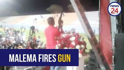 WATCH | Julius Malema appears to fire assault rifle during EFF after party rally