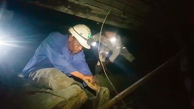 Ex-workers make strides underground