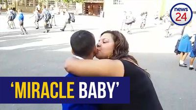 WATCH | Cancer survivor watches as 'miracle baby' heads to big school