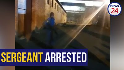 WATCH | Police officer arrested on charges of intimidation, crimen injuria, and discharging a weapon
