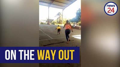 WATCH | Grade R pupil makes a run for it on first day of school