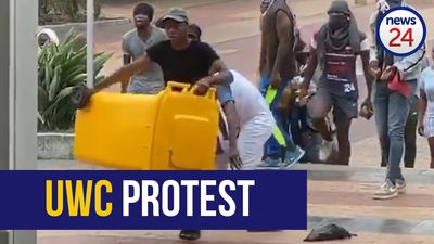 WATCH | Police intervene after students hurl bricks in UWC campus protest