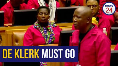 WATCH | Malema objects to 'murderer' FW de Klerk's SONA attendance