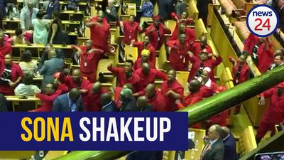 WATCH | EFF MPs chant 'de Klerk must go' at SONA