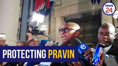 WATCH | 'Pravin is here to stay' says Kodwa while addressing media outside SONA
