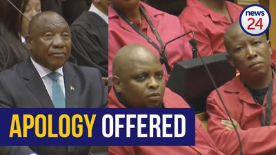 WATCH | Ramaphosa apologises to Malema after ANC MP claims he abused his wife