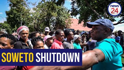 WATCH | #SowetoShutdown: Woman shot with rubber bullet as residents protest against electricity cuts
