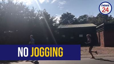 WATCH | First day of lockdown: Two Pretoria joggers defy the rules by going for morning run