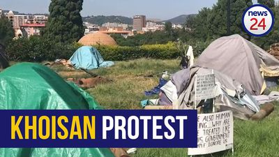 WATCH | If coronavirus doesn't kill us, hunger will, say Khoisan protesting outside Union Buildings