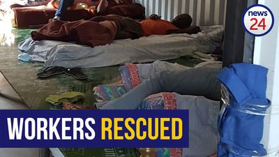 WATCH | KZN police rescue 14 workers who were allegedly locked up in mask factory