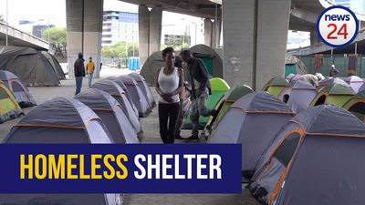 WATCH | Mixed reactions from homeless to Cape Town's new lockdown shelter