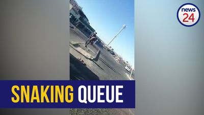 WATCH | Long, snaking queue outside busy shopping mall in Khayelitsha