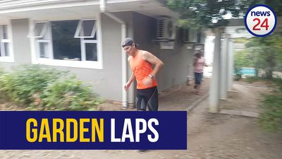 WATCH | 'Crazy Kiwi' runs 100km in his Somerset West garden for kids with cancer