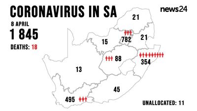 WATCH | 8 April: Covid-19 kills five more South Africans, as overall cases rise to 1 845