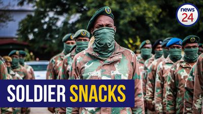 WATCH | SANDF soldiers receive 'goodie bags', encouraged to look after themselves