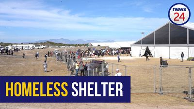 WATCH | Confusion inside Cape Town's biggest lockdown shelter for the homeless