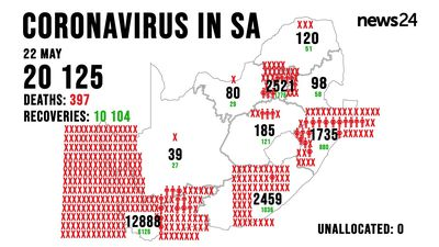 WATCH | 22 May: 28 more deaths as cases jump to 20 125