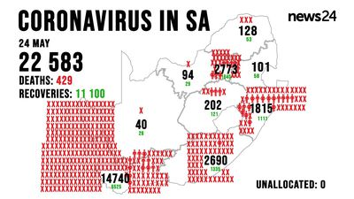WATCH | 24 May: Covid-19 death toll rises to 429 as SA gears up for Level 3 lockdown