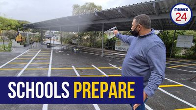 WATCH | Special lanes, painted space: How one Cape Town school is preparing for the reopening