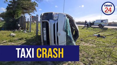 WATCH | Taxi accident kills 2, injures 15; crumpled wreck left deserted next to N2