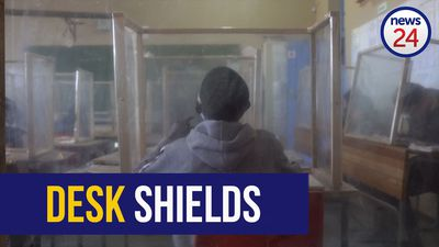 WATCH | Covid-19: Cape Town school makes desk shields to protect pupils