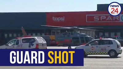WATCH | Security guard airlifted to hospital after being shot in head during robbery in Boksburg