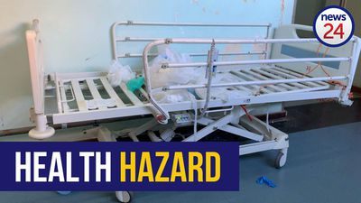 WATCH | Covid-19: Inside Livingstone hospital where dirt stands in hallways, doctors clean wards