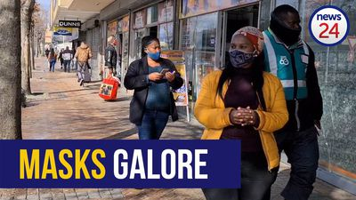 WATCH   Mandatory masks: On this busy Cape Town street, all but one were compliant
