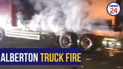 WATCH | One person in critical condition after Alberton truck fire