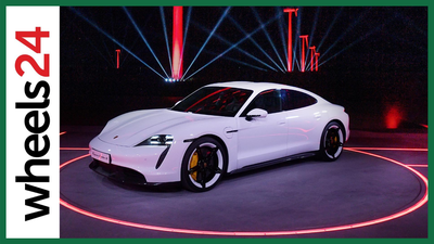 Driving Porsche's electric sports car, the Taycan